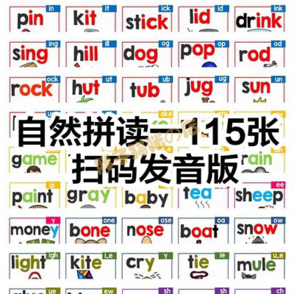 JYYC Natural de Spelling 1851 - Tarjeta de Natural Palabras en ...