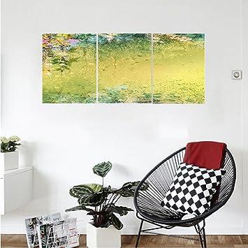 Amazon.com: Liguo88 Custom canvas Watercolor Flower Home Decor ...