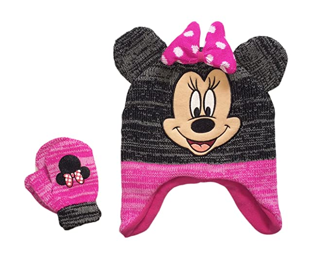 Amazon.com  Disney Minnie Mouse Toddler Little Girls Hat and Mitten ... 84a4b766a7c
