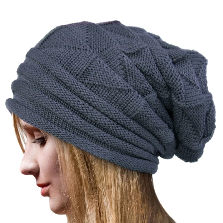 d269d48e4db heekpek Beanie Hat Women Slouch Baggy Beanie Cap Slouchy Skull Hat Knit Hat  Unisex (Cream)  Amazon.co.uk  Clothing