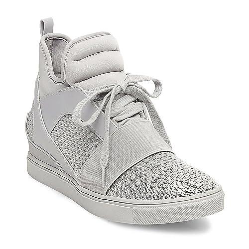 75c52b94729 Steve Madden Women s Lexi Grey Sneaker 5 US  Amazon.ca  Shoes   Handbags