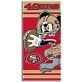 NFL San Francisco 49ers Disney Beach Towel, 30-inch by 60-inch