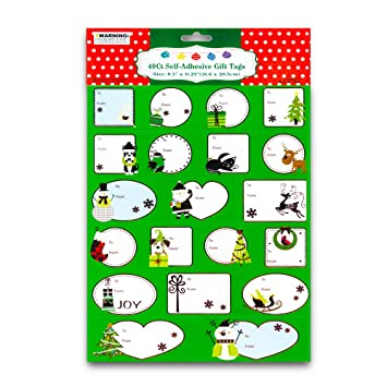 amazon com 36 peel n stick gift tags health personal care