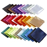 Mens Pocket Squares Handkerchief For Wedding Party (12/30 Pcs)