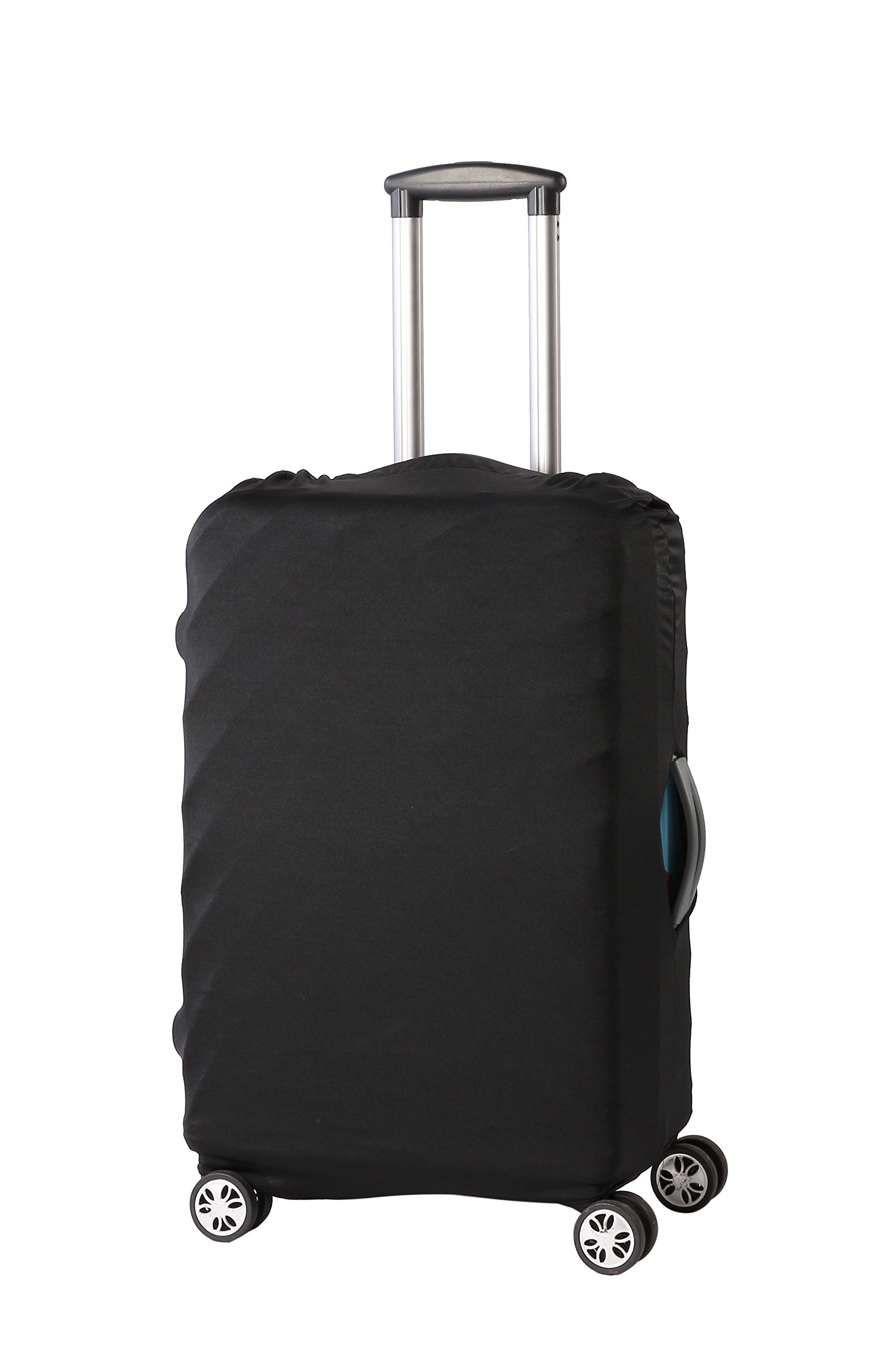 Travel Luggage Protective Cover - Stretchable Suitcase Protector Case, Black, 26 Inches