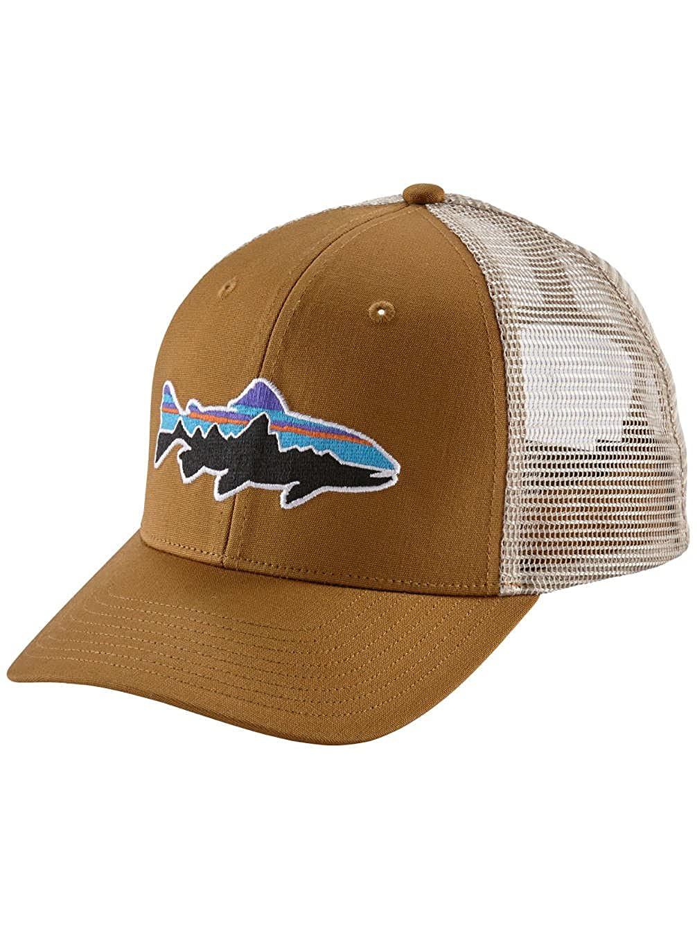 Amazon.com  Patagonia Fit z Roy Trout Trucker Hat 6df758e8969a