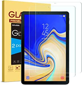 SPARIN Samsung Galaxy Tab S4Screen Protector Film 9H Hardness Tempered Glass Screen Protector for Samsung Galaxy Tab S4T8302018T83510.5Inch Tablet PC (2Pack)