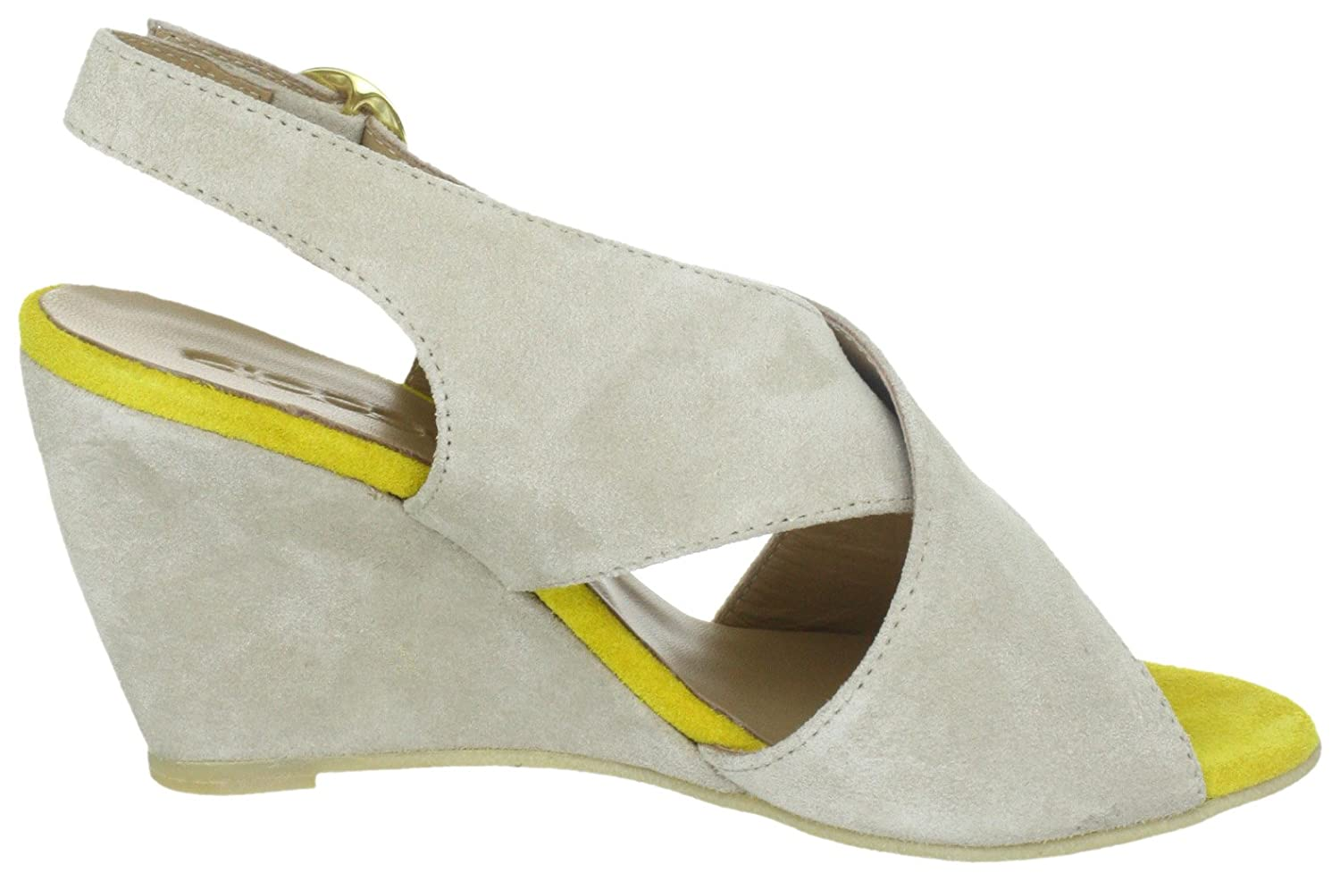PIECES PIECES PIECES Damen OTTINE Shop Suede Wedge Sandal - LT Sand Pumps 1f3a02