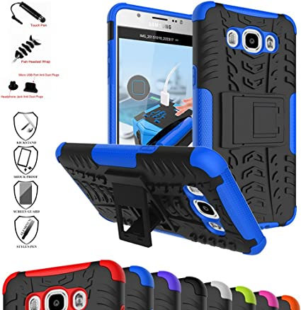 MAMA MOUTH Galaxy J7 2016 Funda, Heavy Duty Silicona híbrida con ...