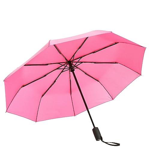 Windproof Umbrella Mysuntown Compact Classic Black Automatic Folding Travel Rain Umbrellas Auto