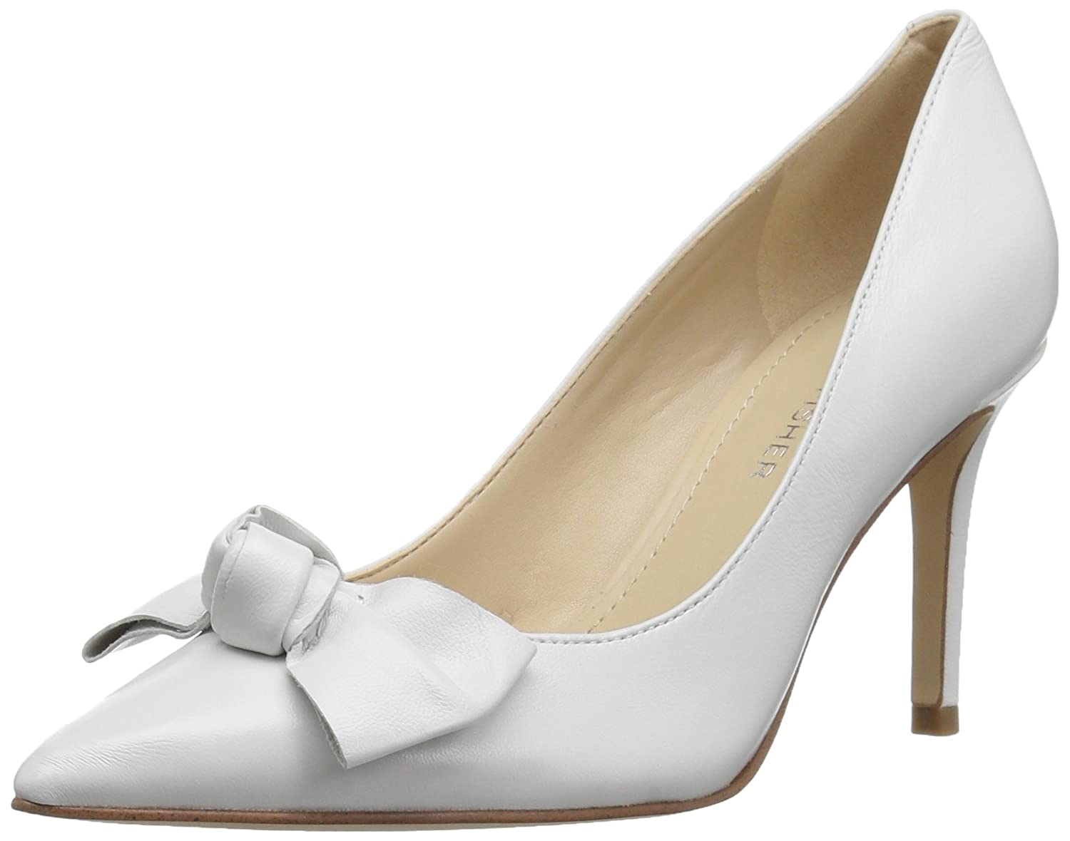Marc Fisher Women's Doreny Pump B07BLLDJS1 6 B(M) US|White/Black