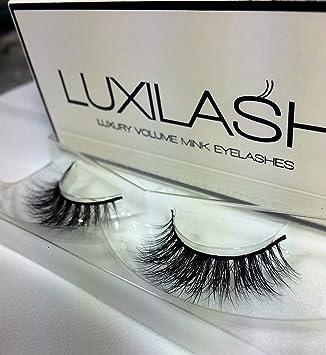 8328e5e2735 LUXILASH LOLA Amazing Double Layered 3D Fake Mink Lashes - Reusable 25  Times Luxury Strip Natural