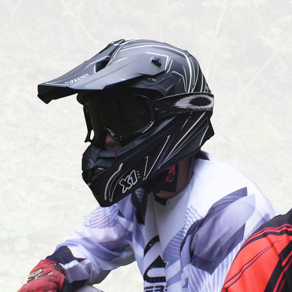 Amazon.com: Voss X1 Pro Magneto Graphic Motocross Helmet with Quick Release - XS - Two Tone Stealth: Automotive