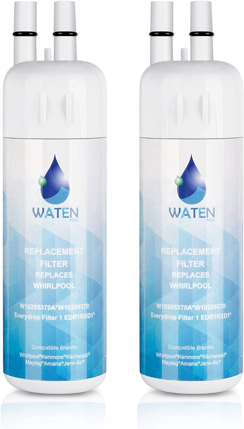 46-9930 Water Filter 2PACKS WATEN H2O W10295370a Water Filter Cap Replacement Compatible with EDR1RXD1 W10295370a Filter 1,Kenmore 46-9081