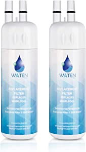 WATEN H2o W10295370A W10295370 Water Filter Cap Replacement, Compatible with EDR1RXD1 Refrigerator Water Filter 1,P4RFWB,P8RFWB2L,Kenmore 9081,Kenmore 9930 Refrigerator Water Filter - 2-Pack