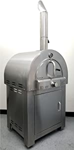 "30.5"" LPG Propane Gas Stainless Steel Artisan Pizza Oven or Grill, with Cover, Outdoor or Indoor"