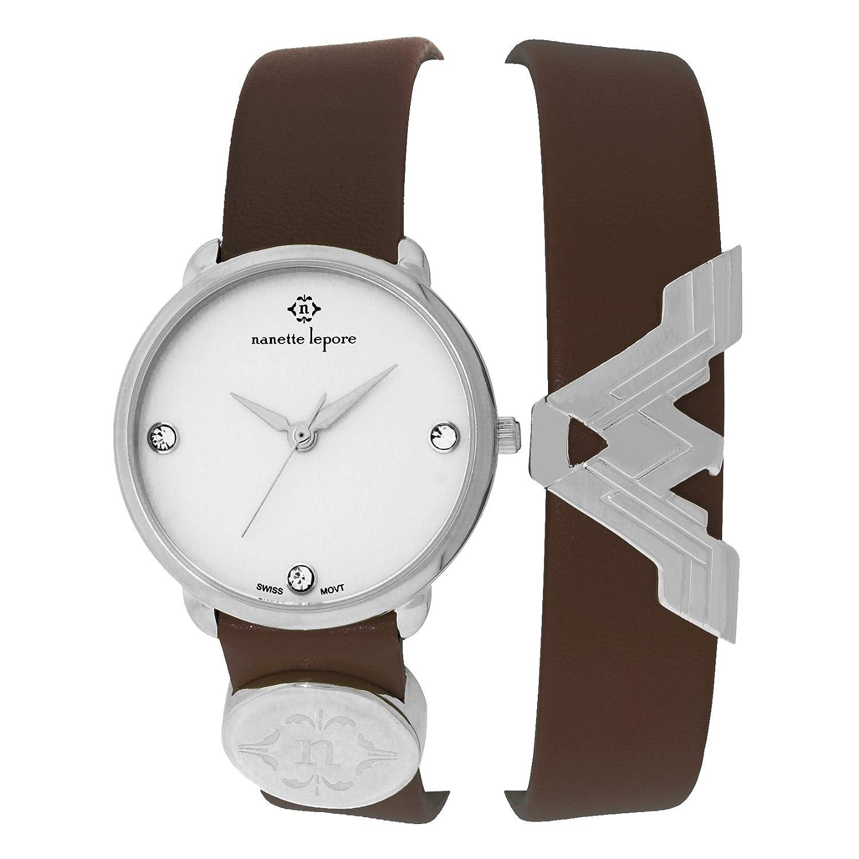 Nanette Lepore Wonder Women Brown Double Wrap Watch