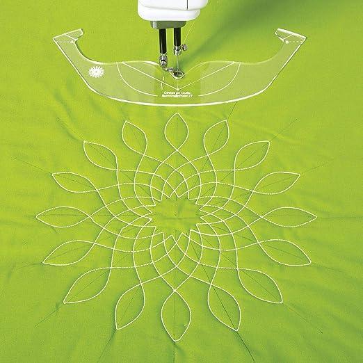 Plantilla para hacer hojas de tela, círculos sobre colchas, ruedas ...