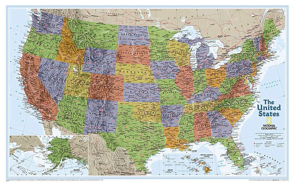 United States Explorer, Laminated: Wall Maps U.S. National ...