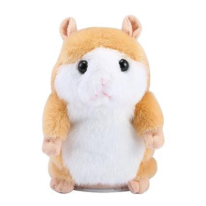 Hámster para hablar, Aolvo Lindo Mimicry Pet repite lo que dices peluche animal juguete electrónico