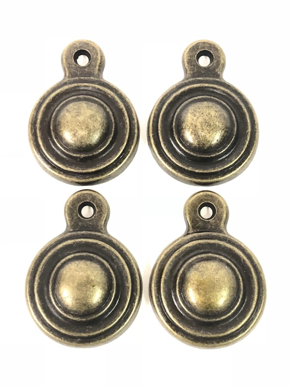 New Antique Bed Bolt Hole Covers Solid Brass Antiqued Finish 4 pieces