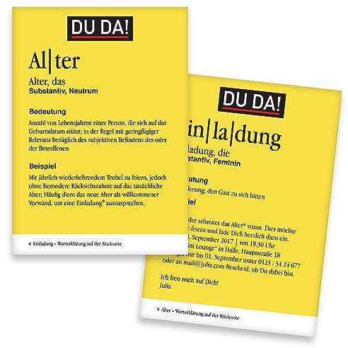 Einladungskarten Geburtstag U0026quot;Wörterbuchu0026quot;   40 Stück   Lexikon    Inkl. Druck Ihrer