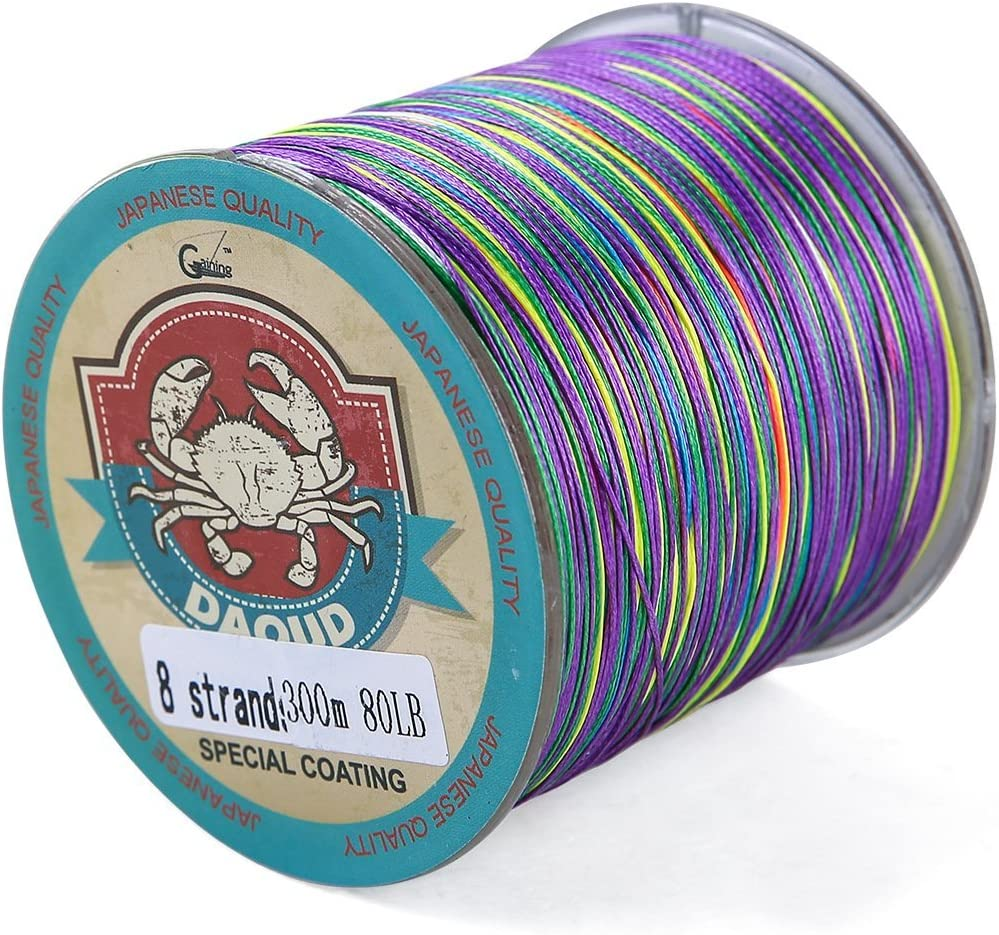 DAOUD Braided Fishing Line High Performance Strong Superline 10LB-80LB 300m 328yards 4 and 8 Strands PE Fishing Lines