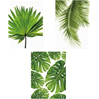 Fenteer 3X No Frame Plant Leaf Oil Painting Canvas Artwork Wall Hanging Art Picture