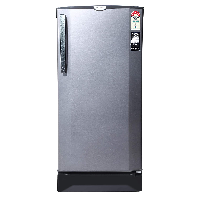 Godrej 190 L 5 Star Inverter Direct-Cool Single Door Refrigerator (RD 1905 PTI 53 SI ST, Sleek Steel)
