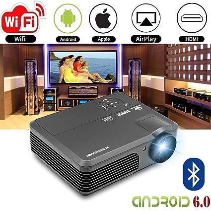 LCD proyector HD Android proyector de cine en casa Bluetooth ...