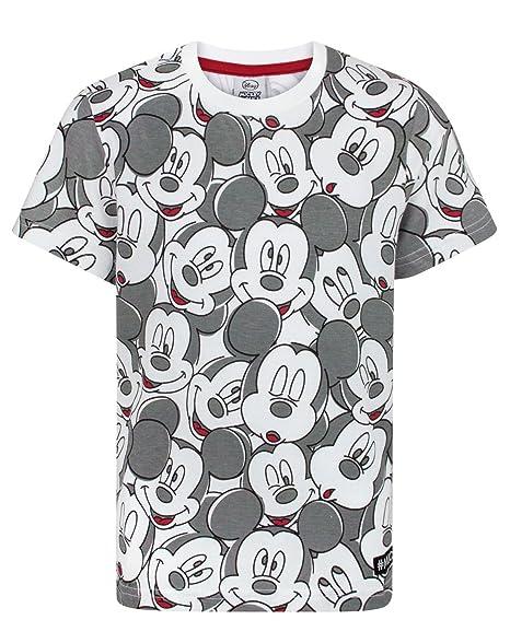 9b5ac9e55b Amazon.com: Disney Mickey Mouse Face All Over Print Boy's T-Shirt (9 ...
