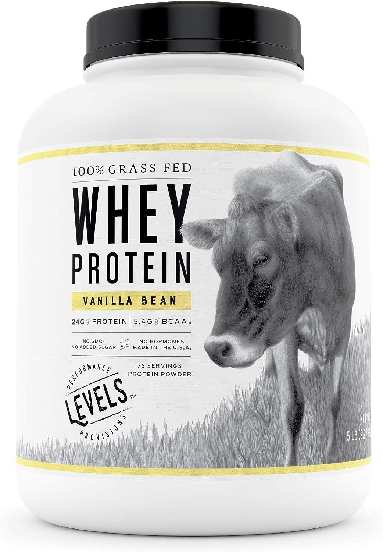 B072M8FKRW Levels 100% Grass Fed Whey Protein, No GMOs, Vanilla Bean, 5LB 7108v7wdclL