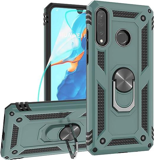 Amazon.com: ZingCon - Carcasa para Huawei P30 Lite (no compatible con P30/P30 Pro), diseño con purpurina, color negro, Negro Verde: Electronics
