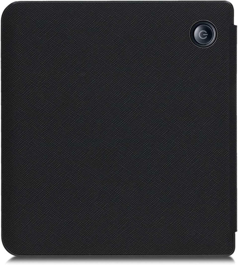 Travel Black//Multicolor Book Style PU Leather Protective e-Reader Cover Folio Case kwmobile Case for Kobo Libra H2O