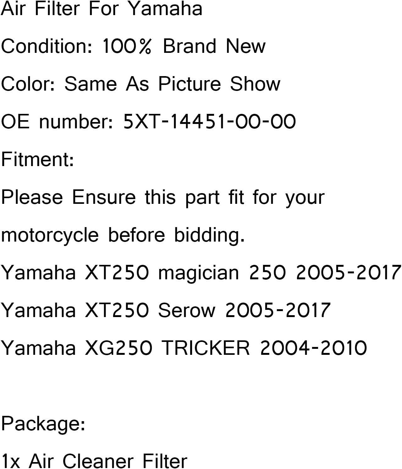 Filtre Dadmission De Nettoyant Filtre Air Filter pour Yamaha XT250 Magician//Serow 250 XG250 Tricker 5XT-14451-00-00 Artudatech Filtre /à Air Moto
