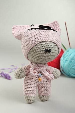 Juguete tejido a crochet hecho a mano peluche original regalo especial