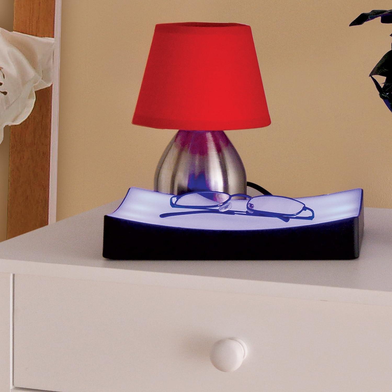 Bedside Touch Lamp Bedroom Lights Dimmer Blue LED Table Blue - Touch lights for bedroom