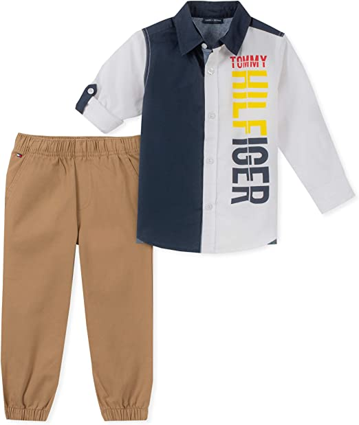 Tommy Hilfiger Boys Toddler 2 Pieces Shirt Pants Set