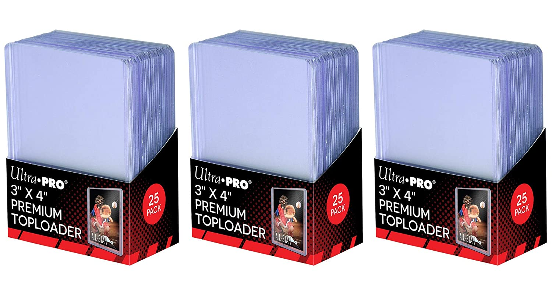 Ultra Pro 3' x 4' Super Clear Premium Toploader Card Protector | 25-Count per Pack | 1-Pack
