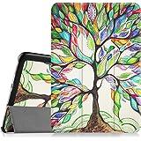 Fintie Samsung Galaxy Tab S2 8.0 Custodia - Ultra Sottile Di Peso Leggero Tri-Fold Smart Case Cover Sleeve Con Funzione Sleep/Wake per Samsung Galaxy Tab S2 8.0 (8 pollici) Tablet, Love Tree