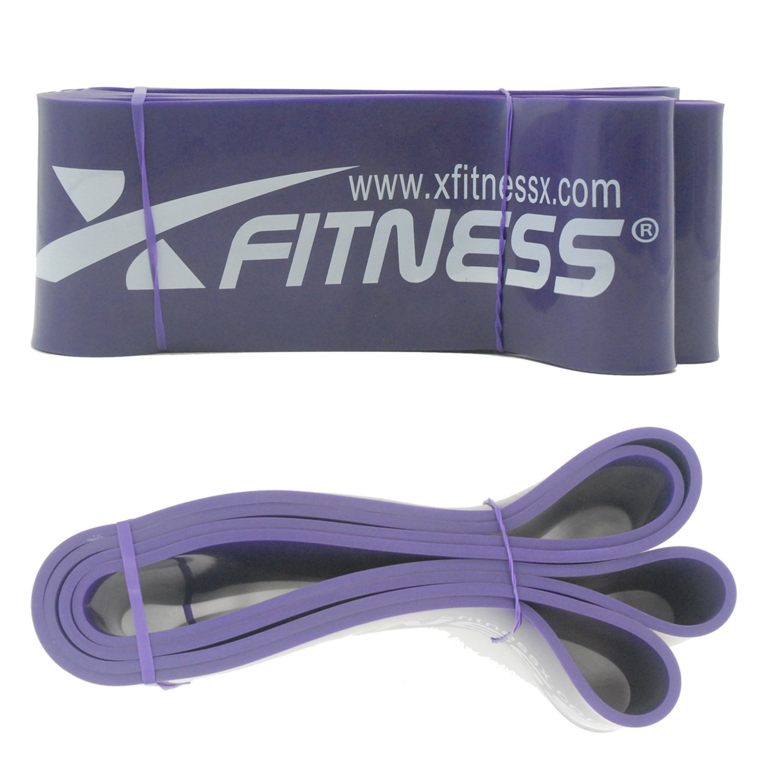 xFitness Pull Up Assist Resistance Stretch Band#4 Blue 40-80 lbs Resistance