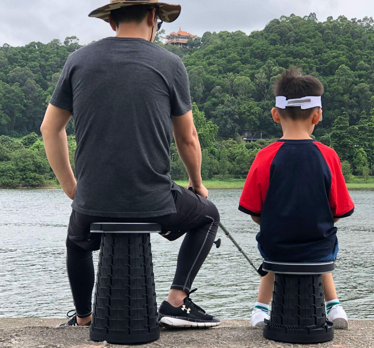 FLYFISH Outdoor Folding Chair Portable Retractable Foldable Chair Lazy Stool For Hiking Fishing Camping