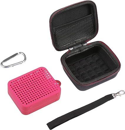 LuckyNV Caja de Bolsa Estuche rígido de EVA portátil con Funda de Silicona Suave para JBL Go 2 Altavoz Bluetooth (Rosado): Amazon.es: Electrónica