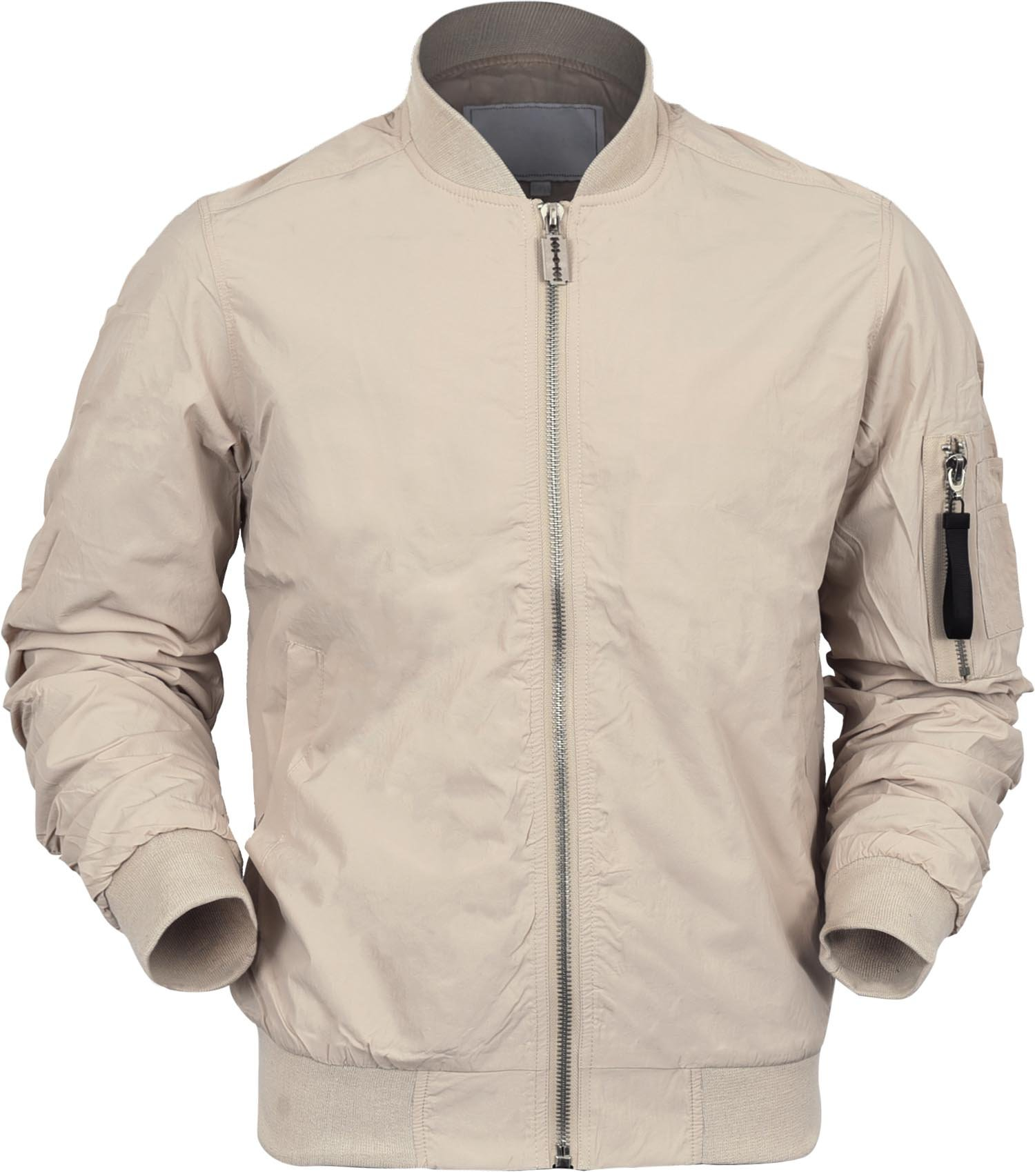 VW Mens Bomber Jacket Active Casual Military MA-1 Flight (X-Large, 1011_Sand)