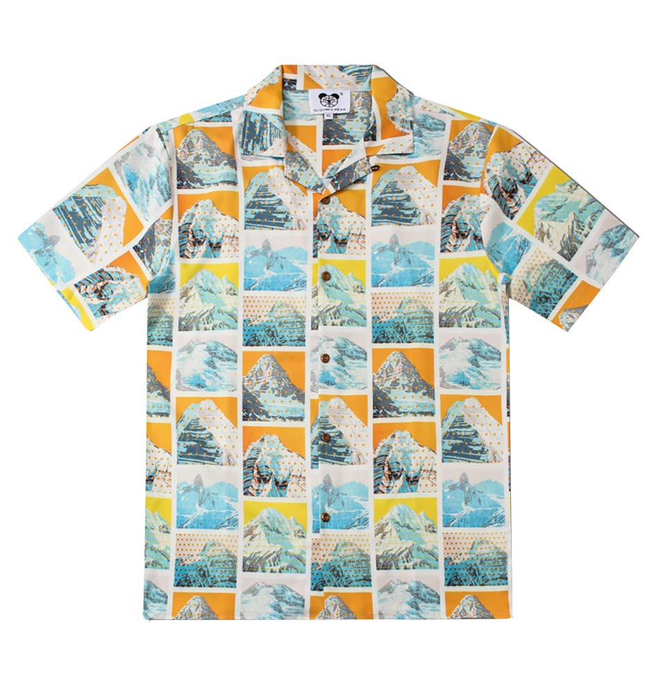 Fits well and it's made well.  Super fun button up shirt for men.
