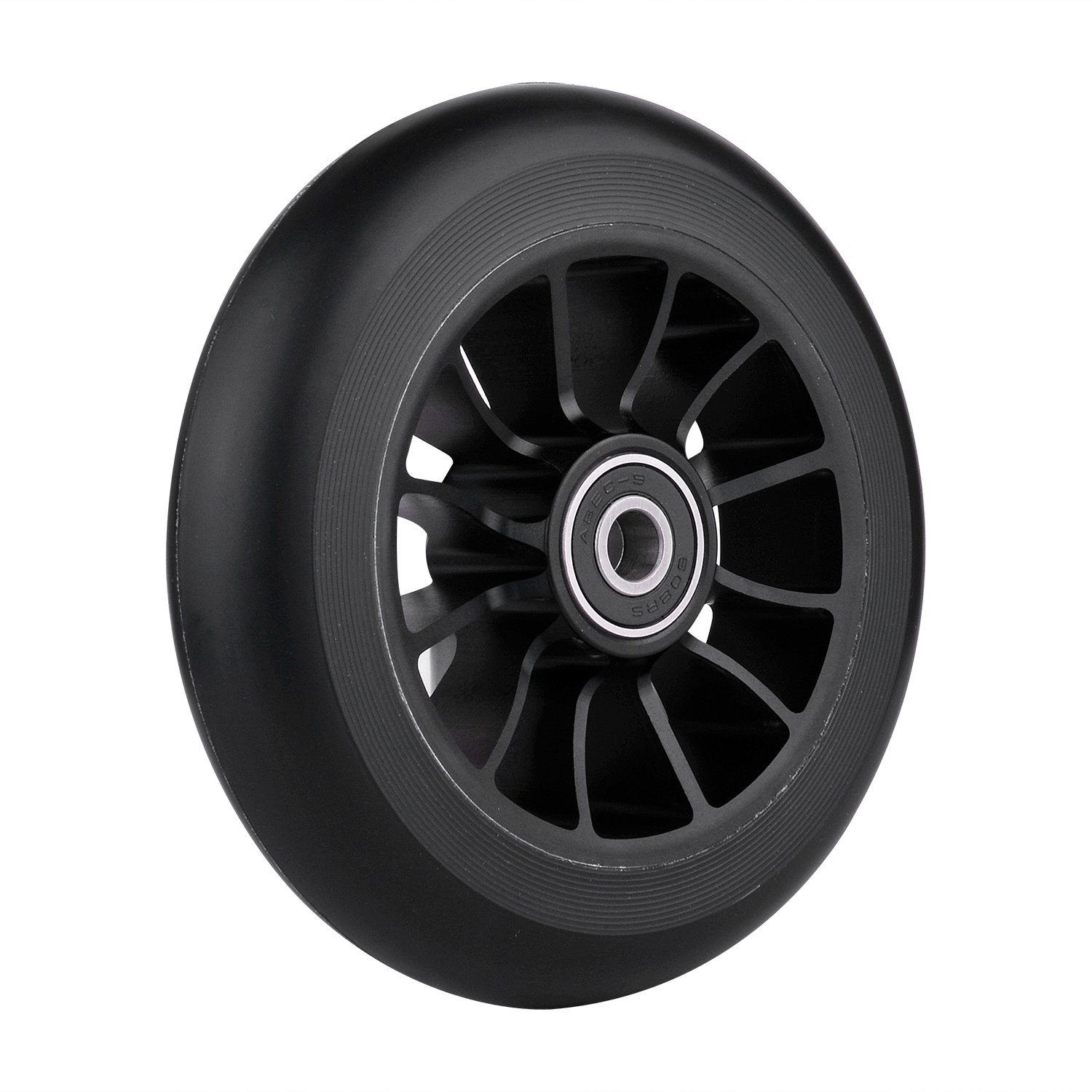 Z-FIRST Replacement 110mm Pro Scooter Wheel with Abec 9 Bearings Fit for MGP/Razor/Lucky Pro Scooters (Black)