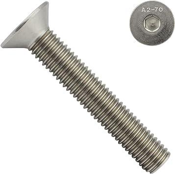 30 St/ück ISO 10642 Senkkopf Schrauben Edelstahl A2 V2A rostfrei Eisenwaren2000 M6 x 20 mm Senkkopfschrauben mit Innensechskant - DIN 7991 Gewindeschrauben Vollgewinde