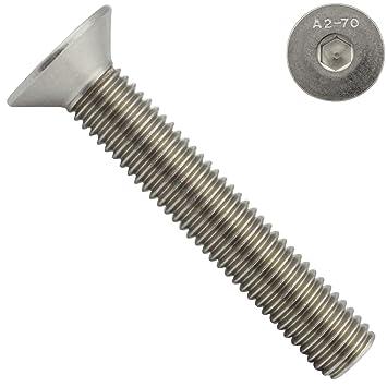 Senkschraube ISO 10642 A2 DIN 7991 mit Innensechskant Edelstahl M6 x 20