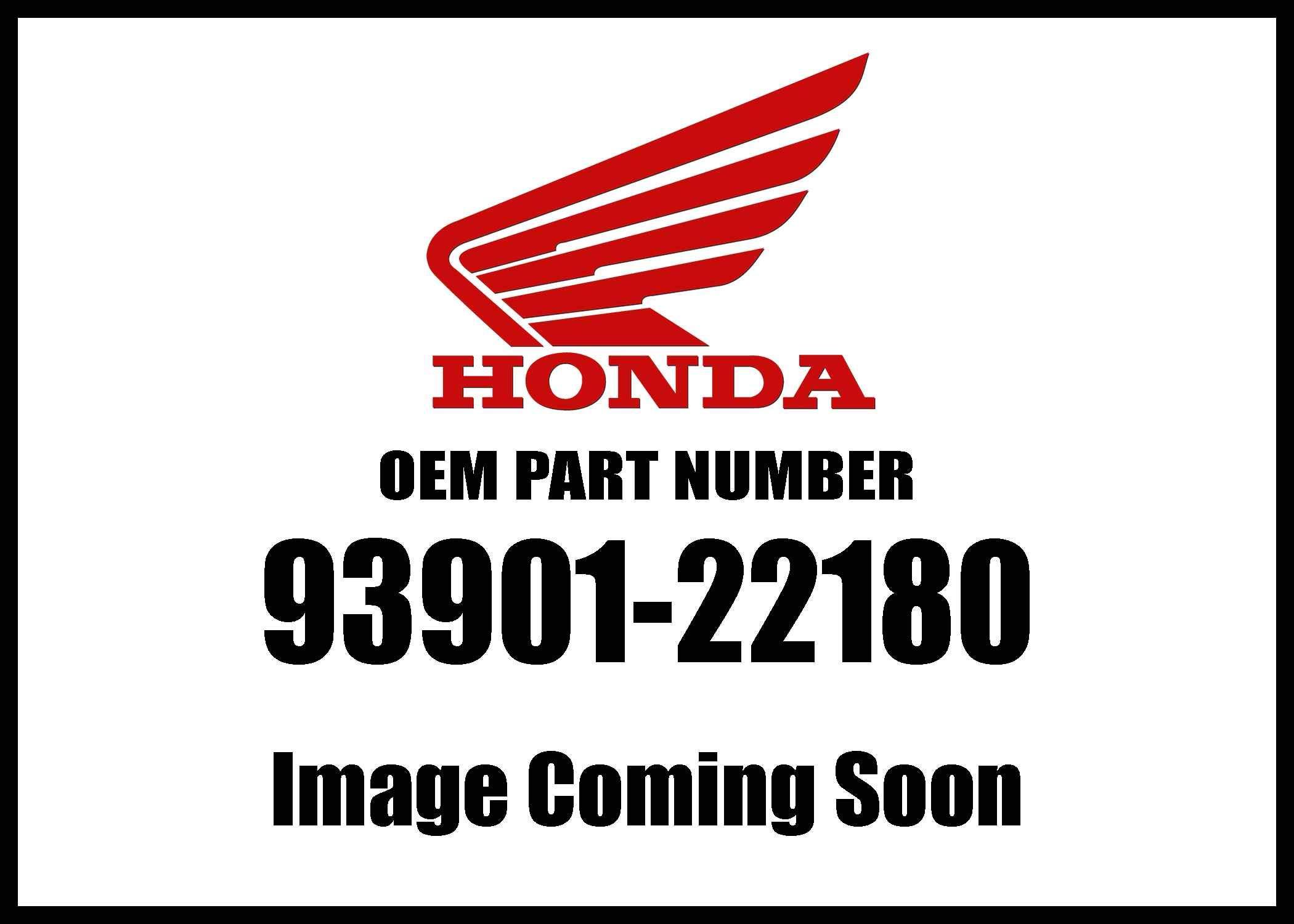 Honda 93901-22180 Screw Genuine Original Equipment Manufacturer (OEM) Part