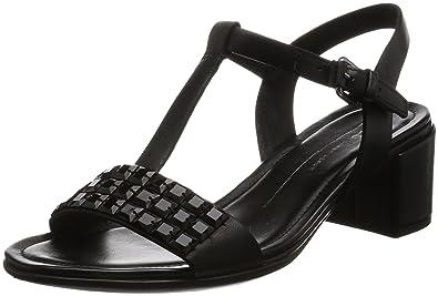 ECCO Women's Women's Shape 35 Studded Dress Sandal, Black, 35 EU/4-